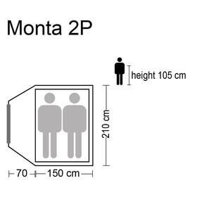 CAMPZ Monta - Tente dôme pour 2 - beige/gris